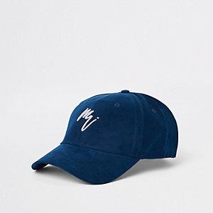 Casquette de baseball «Maison Riviera» en daim bleu marine