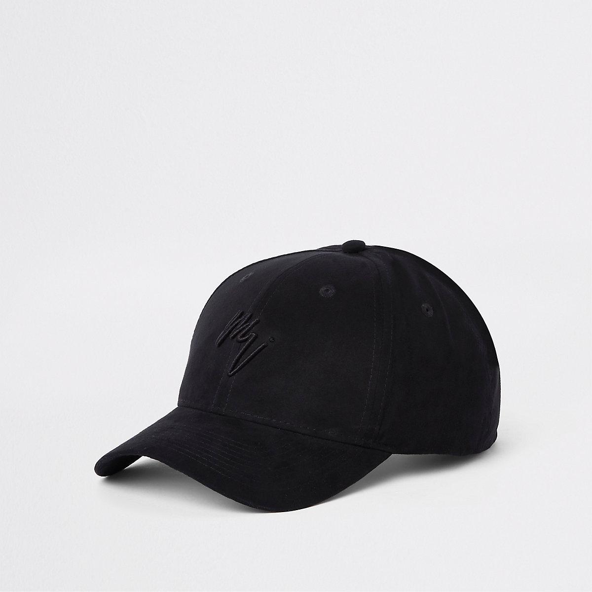 Black suede 'Maison Riviera' baseball cap