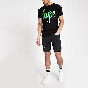 Hype black neon logo print T-shirt
