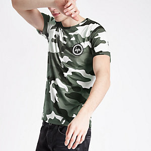 Hype black camo print T-shirt