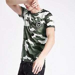 Hype - Zwart T-shirt met camouflageprint