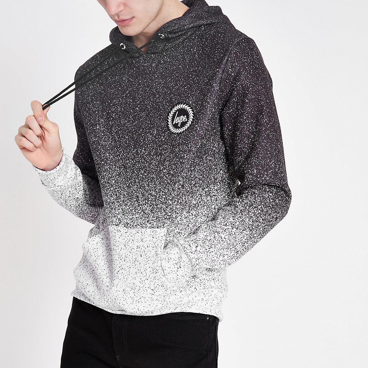 Hype grey speckle fade hoodie