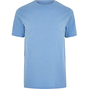 Big & Tall – Blaues Slim Fit T-Shirt
