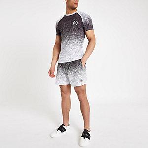 Hype – T-shirt moucheté noir effet dégradé