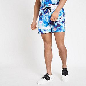 Hype – Short de bain à fleurs bleu
