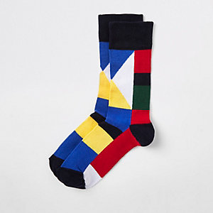 Red flag print socks