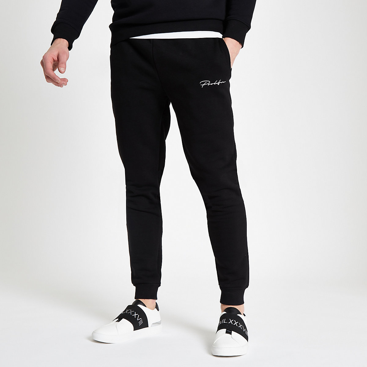 Black 'Prolific' slim fit joggers