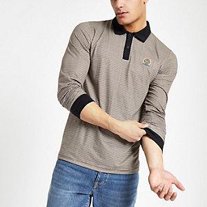 Braunes Slim Fit Polohemd
