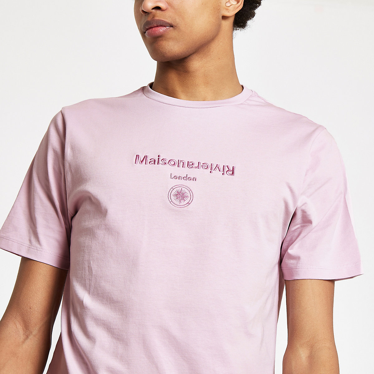 Purple 'Maison Riviera' slim fit T-shirt