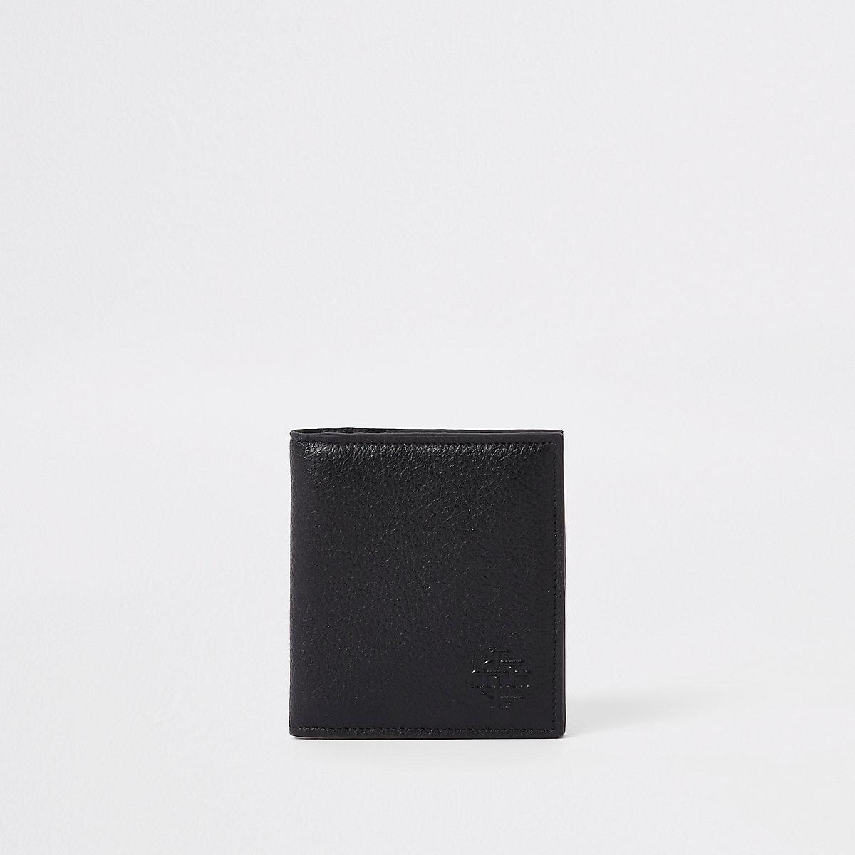 Black leather cardholder