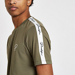 Kaki 'Prolific' T-shirt met korte mouwen