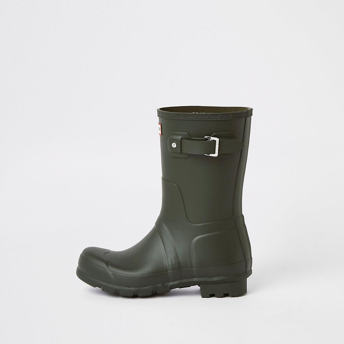 Hunter Original green short wellington boots