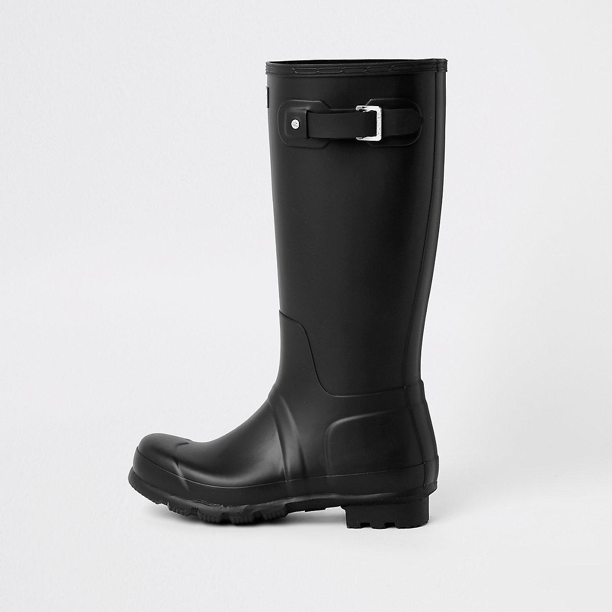 Hunter Original black tall rubber boots