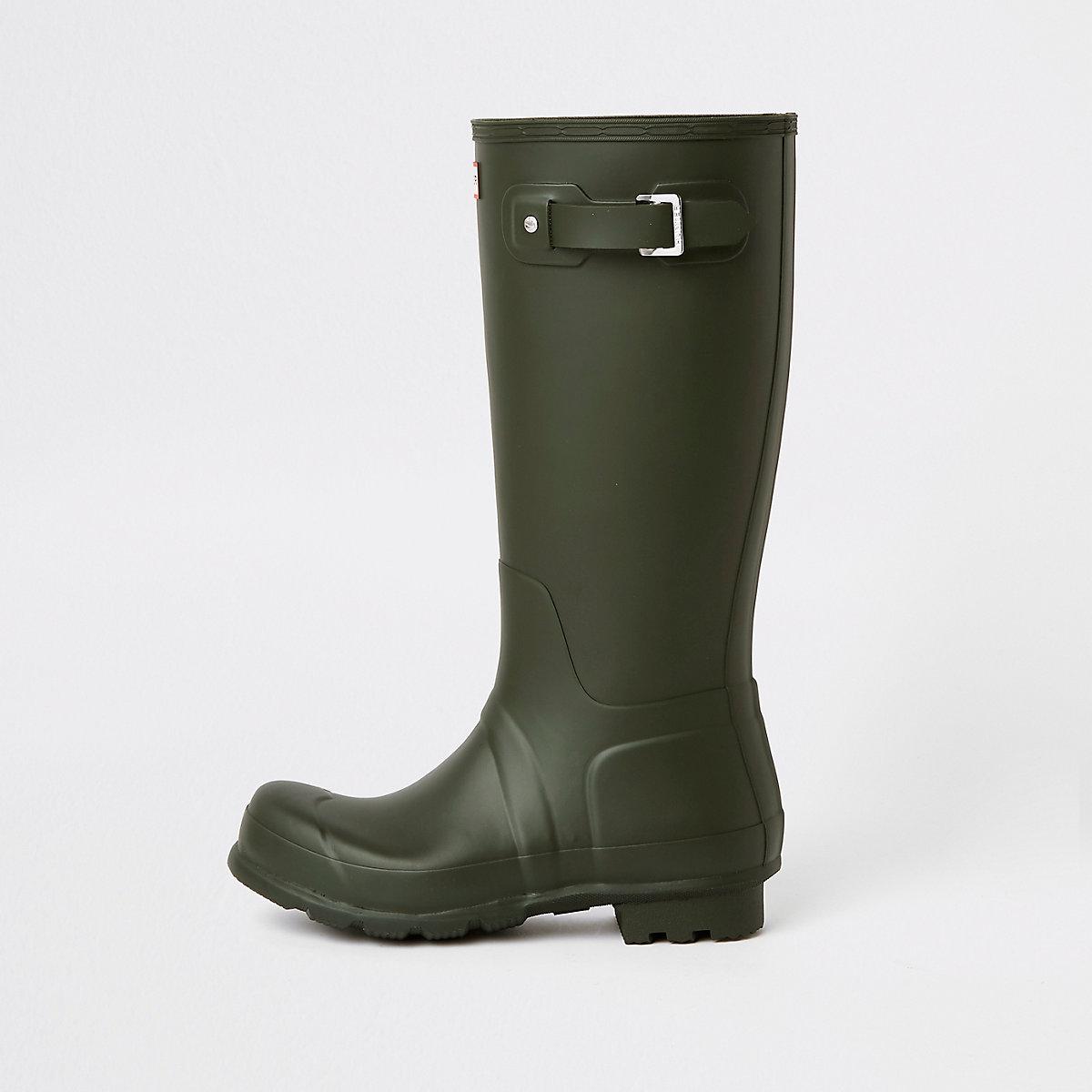 Hunter Original green tall rubber boots