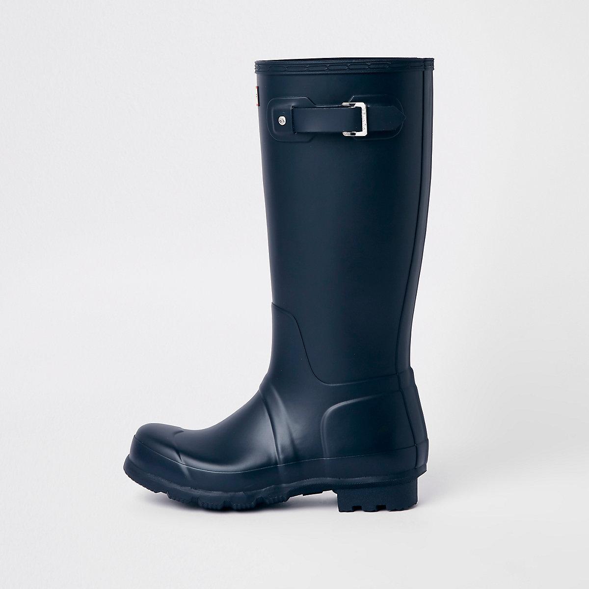 Hunter Original navy tall rubber boots