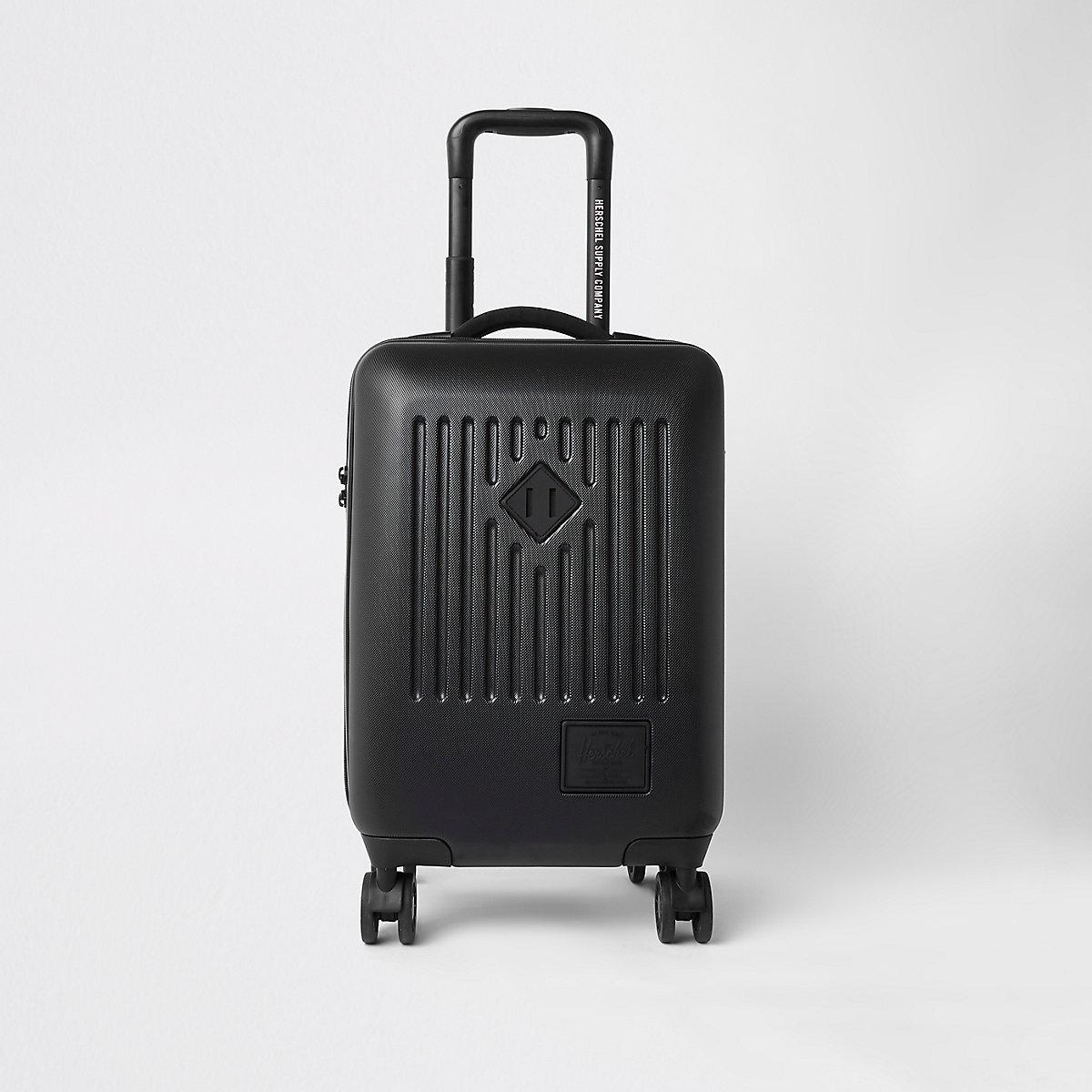 Herschel black trade carry on suitcase