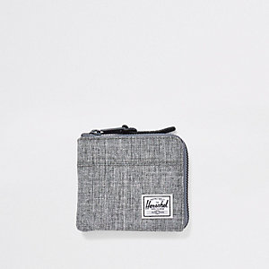 Herschel grey zip around wallet