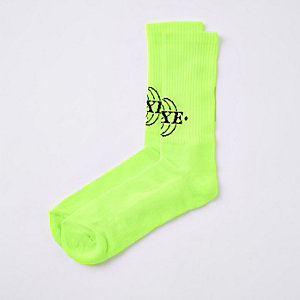 Neon yellow 'Luxe' socks