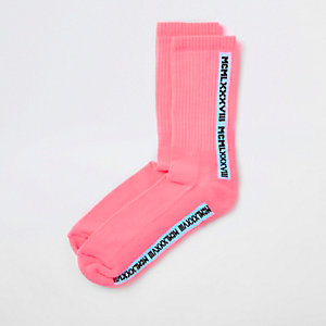 Chaussettes tube « Mcmlx » rose