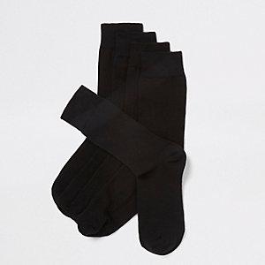 Schwarze Sneakersocken, 5er-Pack