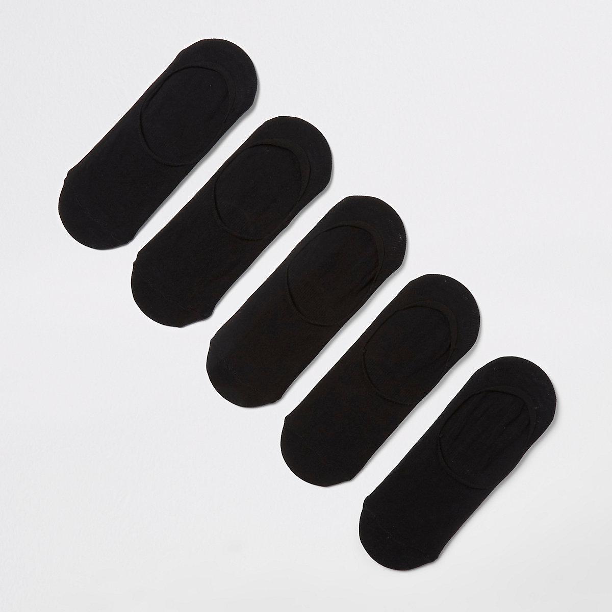 Black sneaker liner socks 5 pack