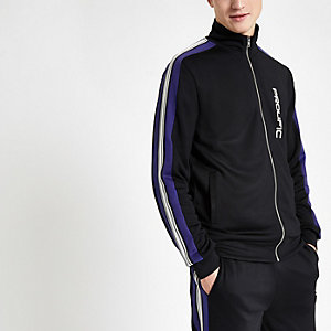 Black 'Prolific' slim fit tape track top