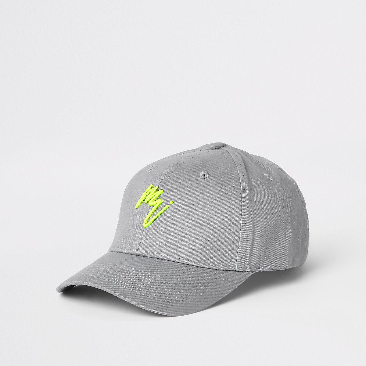 Grey 'Maison Riviera' neon baseball cap