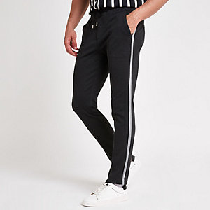 Dark grey stretch skinny jogger trousers