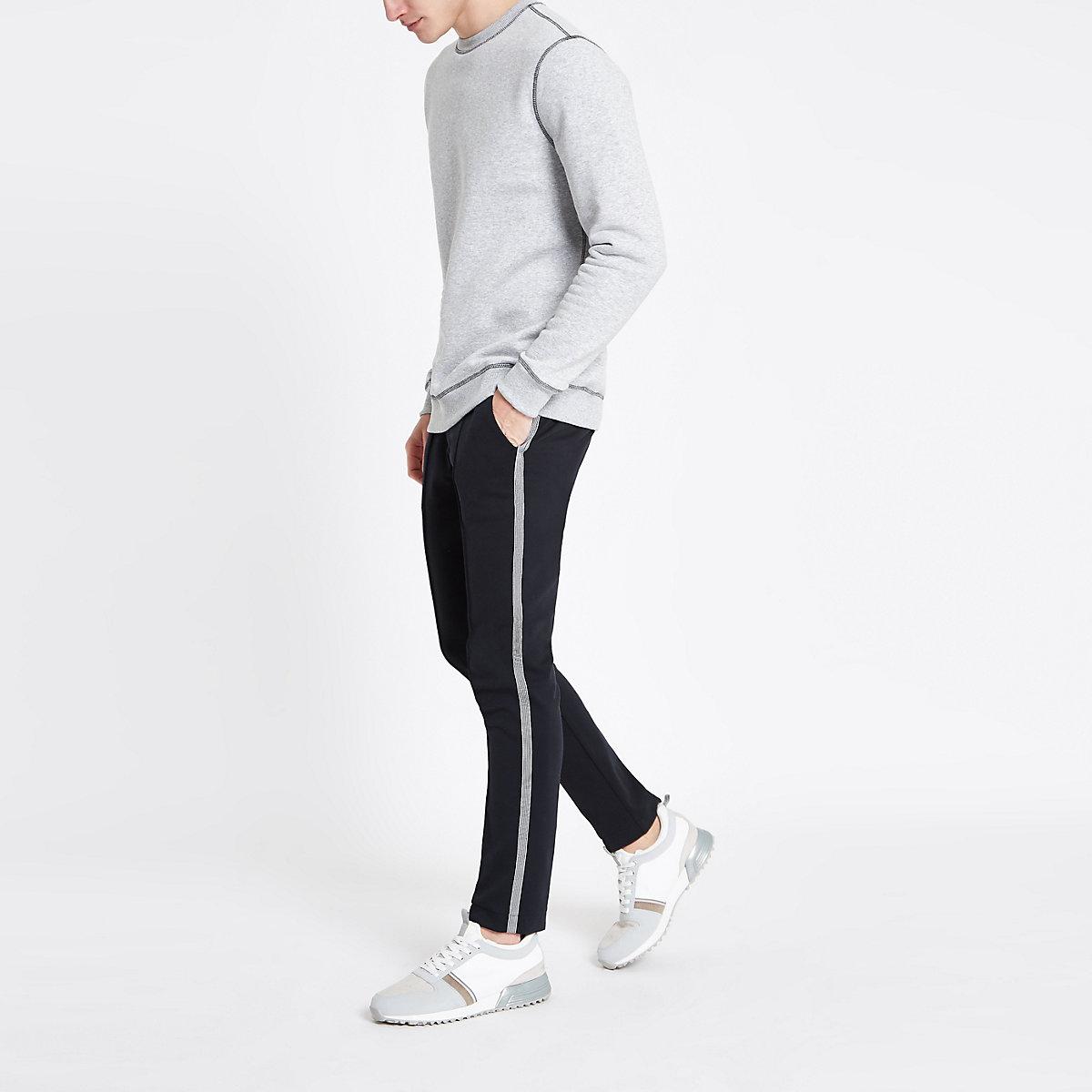 Navy super skinny smart jogger trousers