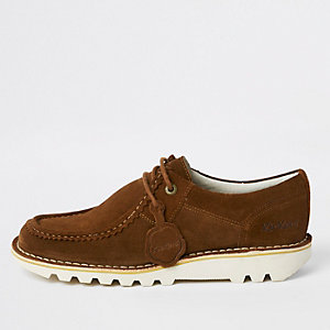Kickers – Chaussures en daim marron mi-hautes