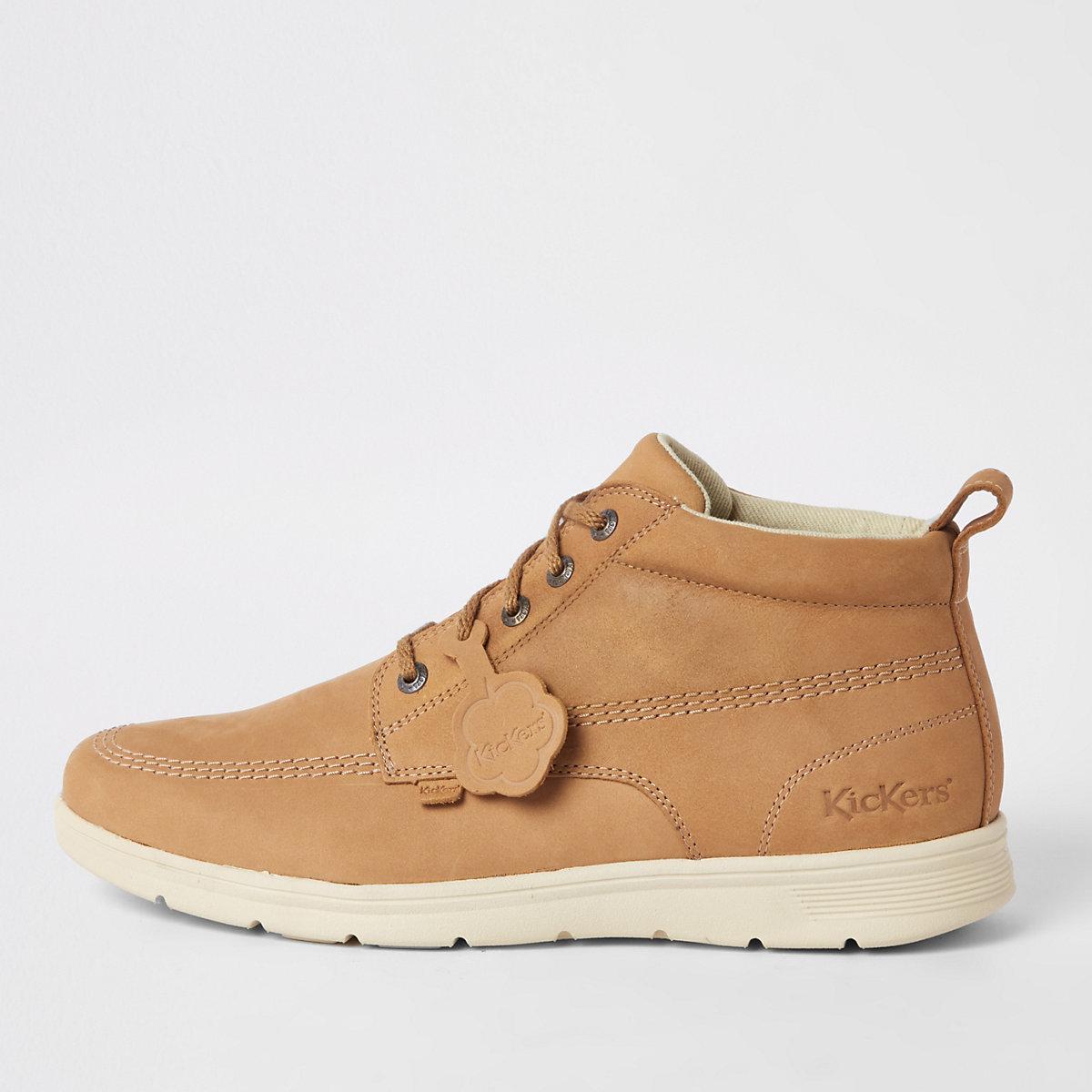 Kickers – Kelland – Bottes en cuir marron à lacets