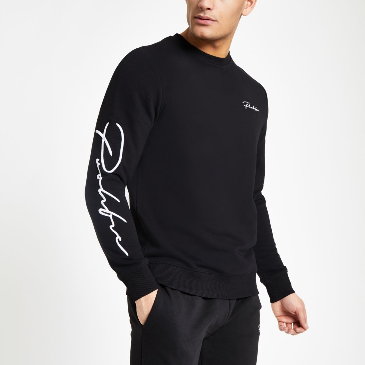 "Schwarzes Slim Fit Sweatshirt ""Prolific"""