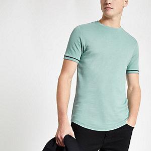 T-shirt vert menthe à manches courtes