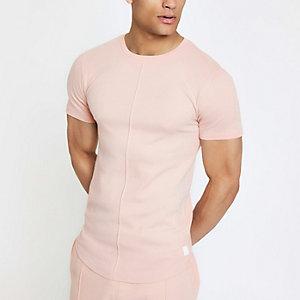 Roze aansluitend T-shirt