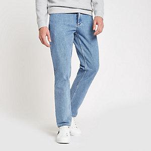 Dean - Lichtblauwe jeans met rechte pijpen