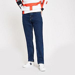 Dean - Middenbauwe jeans met rechte pijpen