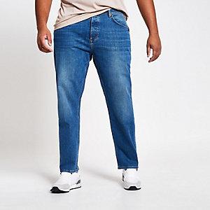 Big and Tall - Middenblauwe jeans met rechte pijpen
