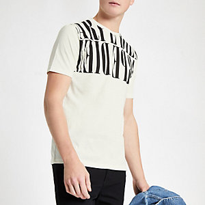 T-shirt slim « Carpe Diem » blanc