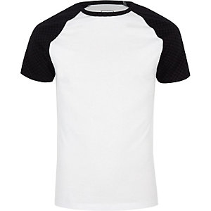White RI monogram muscle fit T-shirt