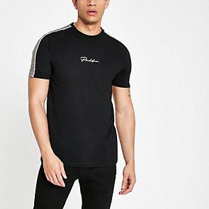 T-shirt slim noir «Prolific» à carreaux dans le dos