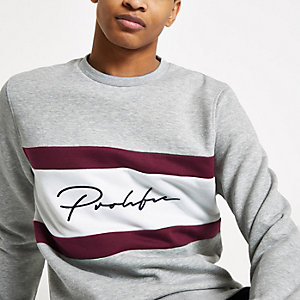 Grey 'Prolific' slim fit sweatshirt
