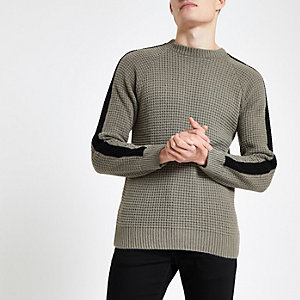 Khaki Slim Fit Pullover