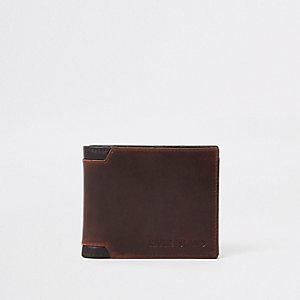 Portefeuille marron clair à coins renforcés