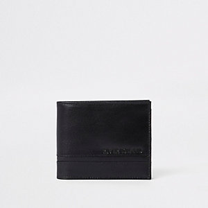 Black textured wallet