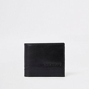 Zwarte portemonnee met textuur