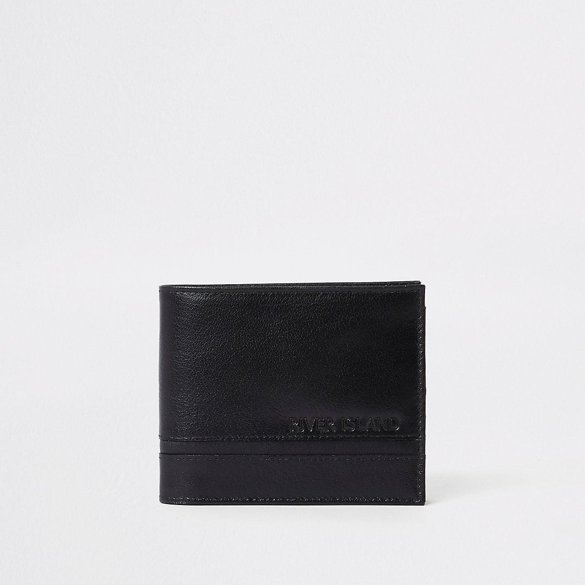 Black textured wallet