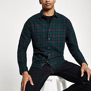 Only & Sons Mario green check shirt