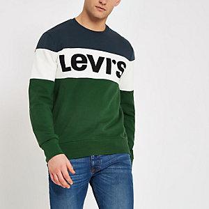Levi green colour block sweatshirt