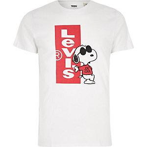Levi's – T-shirt à imprimé graphique blanc