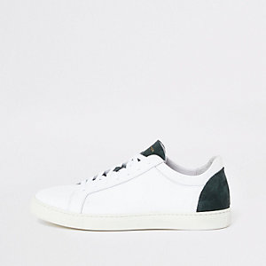 Selected Homme - Witte sneakers met contrasterend detail